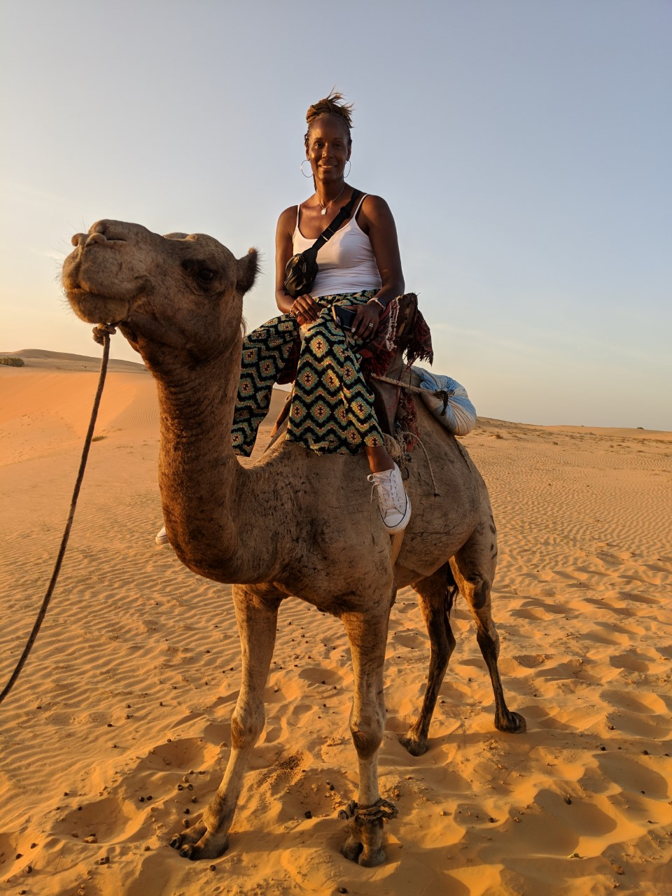 Camel ride in Lompoul