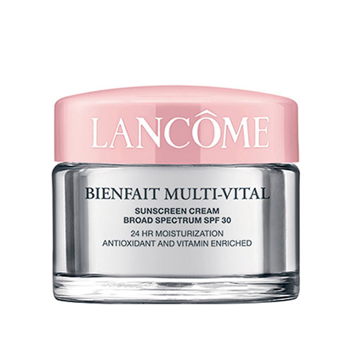 Glowing Skin at 50: My Favorite Skin Care Products - Bienfait Multi-Vital SPF 30 Lotion - Moisturizer by Lancome